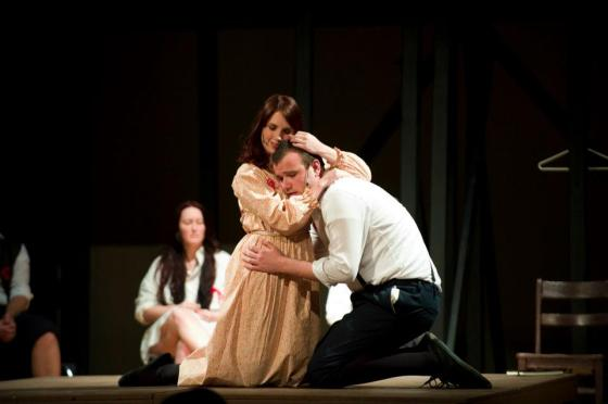 Me as Wendla with Tyler Waddell as Melchior in Spring Awakening