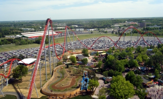 Intimidator-at-Carowinds-Aerial-View